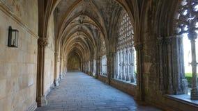 A fragment of the patio of the Dominican monastery of Santa Maria da Vitoria, in Batalha, stock photography