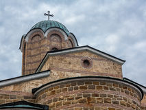 Fragment Patriarch church on the Tsarevets hill in Veliko Tarnov Stock Image