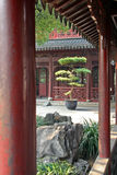 Fragment of a pavillon in Yuyuan gardens, Shanghai, China Royalty Free Stock Image