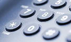 Fragment of phone closeup blue tone Royalty Free Stock Photos