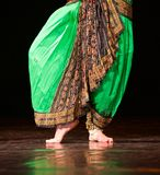 Fragment photo of dancer, only legs cropped, indian dancer Royalty Free Stock Photos