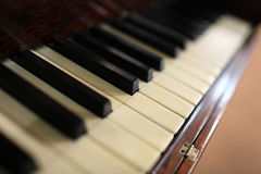 Fragment of piano keyboard Royalty Free Stock Photos