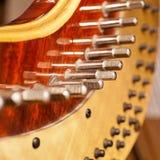 Fragment pins Harp Stock Photo