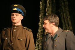 A fragment of the play about the second world war Royalty Free Stock Images