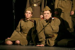 A fragment of the play about the second world war Stock Photography
