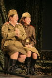 A fragment of the play about the second world war Royalty Free Stock Photo