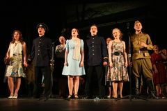 A fragment of the play about the second world war Stock Images