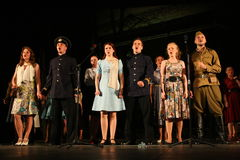 A fragment of the play about the second world war Royalty Free Stock Image