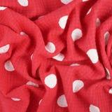 Fragment of a polka dot cloth Royalty Free Stock Photos