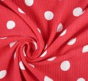 Fragment of a polka dot cloth Royalty Free Stock Photo