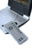 Fragment portable DVD player Royalty Free Stock Image