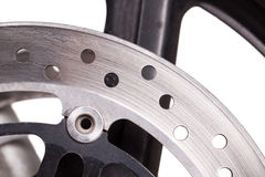 Fragment of powerful motorcycle Royalty Free Stock Photo