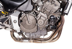 Fragment of powerful motorcycle. Stock Images