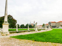 Fragment of Prato della Valle in Padua, Italy. Stock Photography