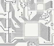 Fragment of printed circuit board Royalty Free Stock Image