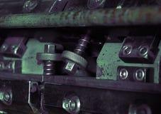 Fragment of printing machine macro Stock Images