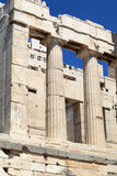 Fragment of Propylaea of the Athenian Acropolis Royalty Free Stock Photography