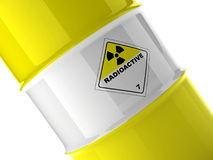 Fragment of radioactive barrel Stock Image