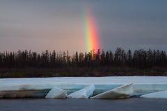 A fragment of a rainbow. Royalty Free Stock Photos