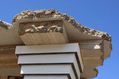 Fragment of reconstruction of the Minoan palace Stock Image