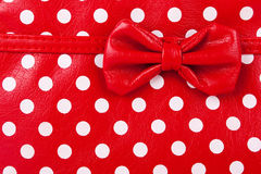 Fragment of red bag Royalty Free Stock Photos