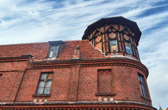 Fragment of red brick building Royalty Free Stock Images