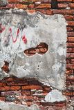 Fragment of red brick wall Royalty Free Stock Image