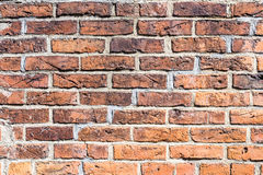 Fragment of red brick wall Stock Photography