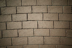 Fragment of red brick wall for background. Toned Royalty Free Stock Photo