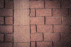 Fragment of red brick wall for background. Toned Stock Images