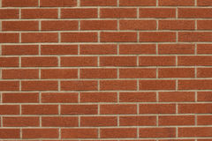 Fragment of red brick wall. Closeup fragment of red brick wall Stock Photos
