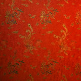 Fragment of red chinese silk Royalty Free Stock Photography