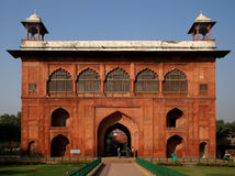 Fragment of a Red Fort. Fragment of the building in territory of a Red Fort in Delhi, India Royalty Free Stock Photo