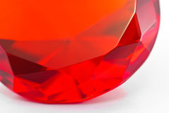 Fragment of red gemstone Stock Photos