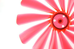 Fragment of red propeller. On the white background Royalty Free Stock Photos
