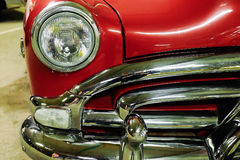 Fragment red vintage car Royalty Free Stock Images