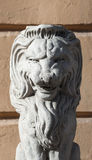 Fragment of restored lion sculptures Stock Images