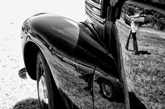 A fragment of a retro car Royalty Free Stock Photography