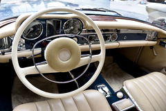 Fragment retro car  Royalty Free Stock Images