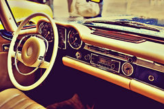 Fragment retro car dashboard.   Stock Image