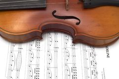 Fragment of retro violin Royalty Free Stock Images