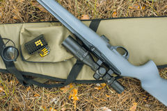 A fragment of a rifle with telescopic sight Royalty Free Stock Images