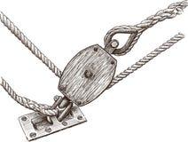 Fragment of rigging sailboat royalty free illustration
