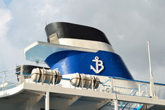 Fragment of river cruise ship Royalty Free Stock Photo