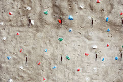 Fragment of a rock climbing wall Stock Photos