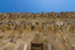 The fragment of a Roman ancient theater in Aspendos. Royalty Free Stock Images
