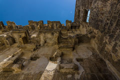 The fragment of a Roman ancient theater in Aspendos Royalty Free Stock Image