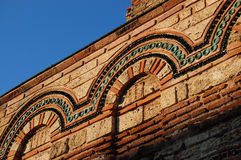 Fragment of roman stone wall. In chirch in Nessebar Bulgaria Stock Image