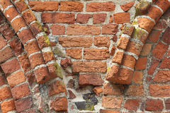 Fragment of a Romanesque wall Stock Photo