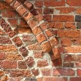 Fragment of a Romanesque wall Stock Photos